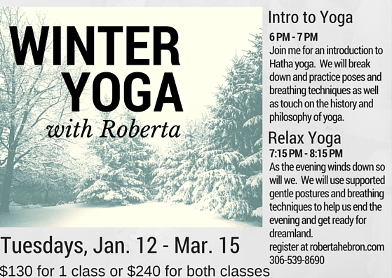 Winter yoga - serenity